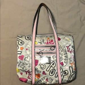 Coach Poppy edition purse in pink and silver